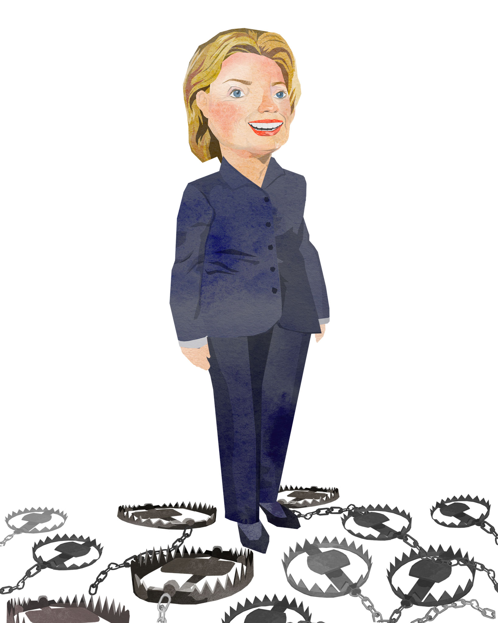 tram nguyen hilary clinton illustration