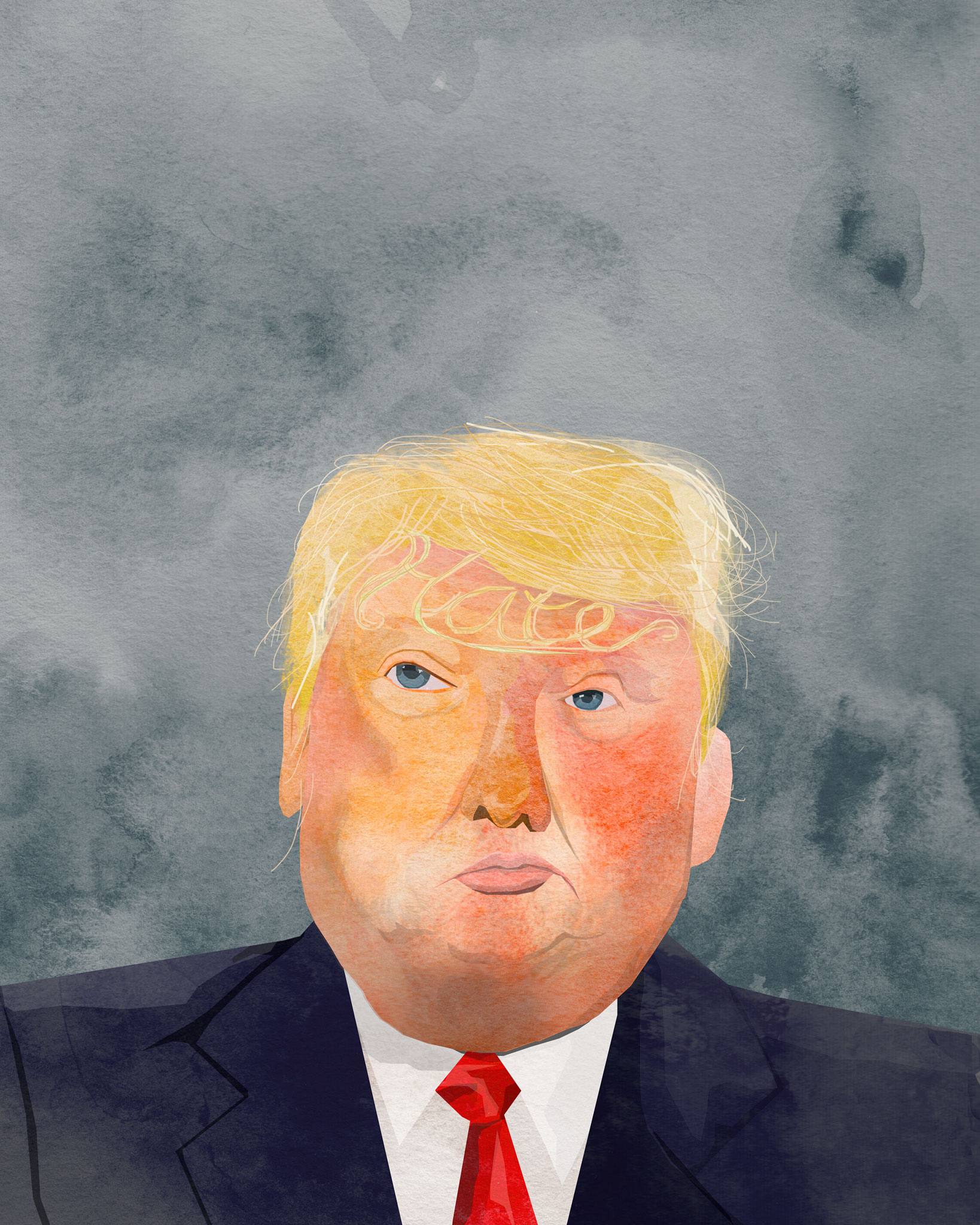 tram nguyen donald trump hater illustration